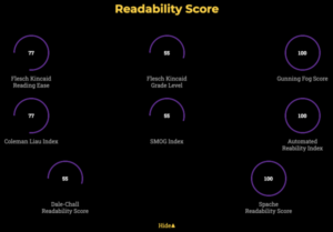 readability scoring on mLaP